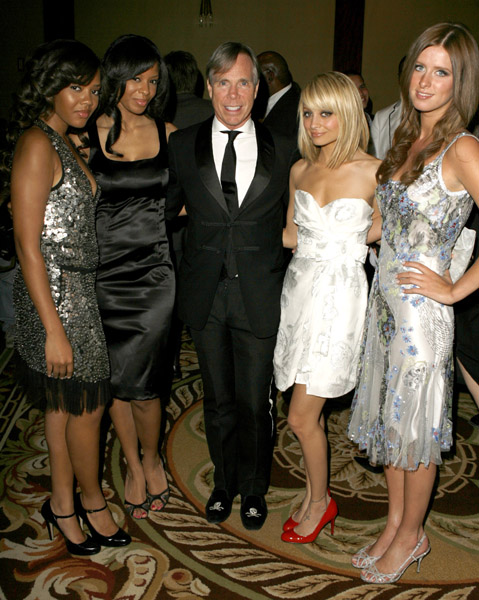 Vanessa, Angela, Tommy Hilfiger, Nicole Ritchie and Nicky Hilton