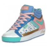fab cookie boot blue pink white