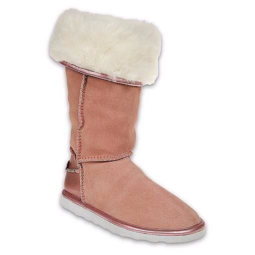 pink marshmallow boots
