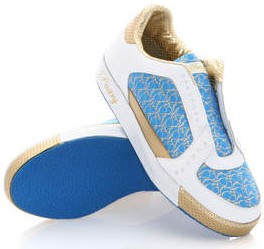 pastry fortune cookie shoe blue