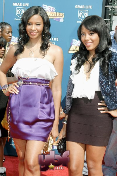 Vanessa and Angela Simmons at the 2008 BET Awards