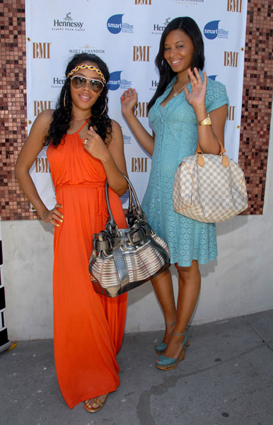 angela and vanessa simmons at the BMI Brunch