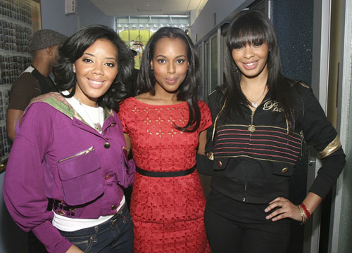 vanessa and angela simmons at MTV\'s TRL