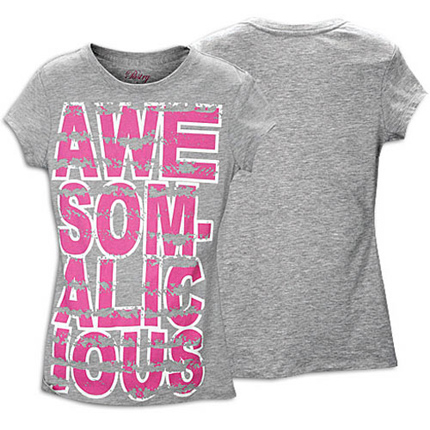 Pastry Awesomalicious Tee in Grey Clothing