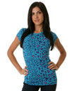 Pastry Apparel: Glam Forward Leopard Top