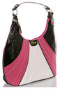 Pastry Handbags: Glam Suede Large Hobo in Raspberry
