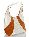 Pastry Handbags: Glam Suede Large Hobo in Copper
