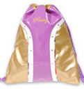 Pastry Handbags: Glam Cinch Sack in Gold-Lavender