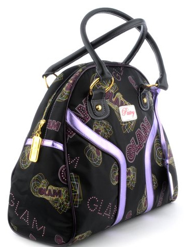 Pastry Glam Bowler in Black-Purple Handbag
