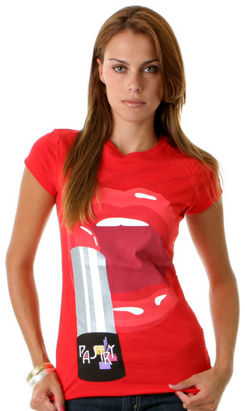 Pastry Lipstick Tee in Red Clothing