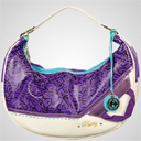 Pastry Handbags: Retro Print Hobo in Plum