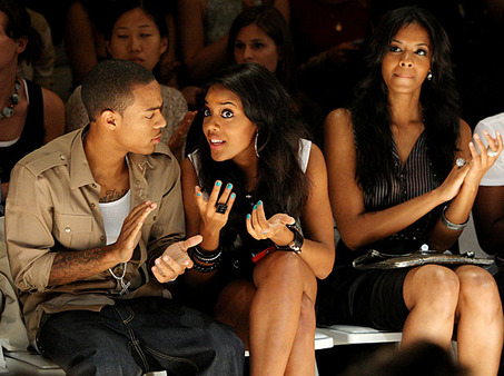 Bow Wow, Angela Simmons, Vanessa Simmons at Benjamin Cho show at NY Fashion Week. Photo by Bryan Bedder/Getty Images