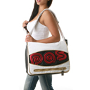Pastry Black Cherry Mirror Applique Messenger