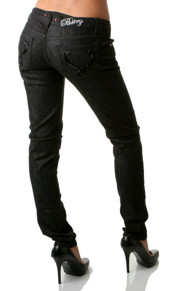 Pastry Glam Stretch Jeans with Black sequins