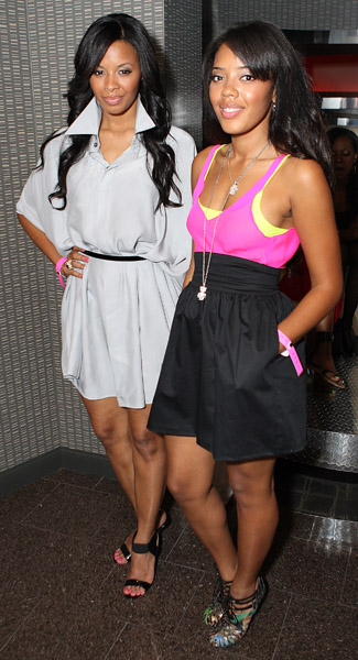 vanessa and angela simmons at the undrcrwn party in Las Vegas