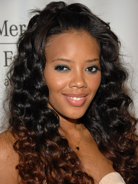 Angela Simmons at LA Fashion Week. Oct 14, 2008