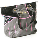 Grey Metallic Kisses Tote