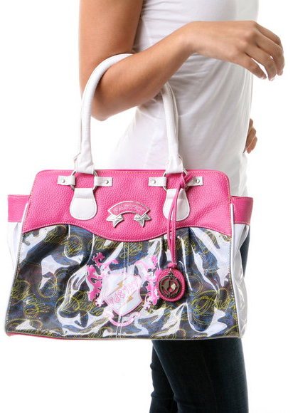 Pastry Crest Tote in Pink