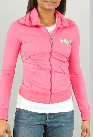 Pastry Crossed Zip Jacket in pink