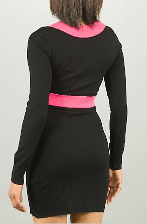 Pastry disco sweater dress in black