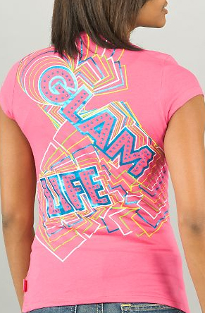 Pastry glam life pink tee