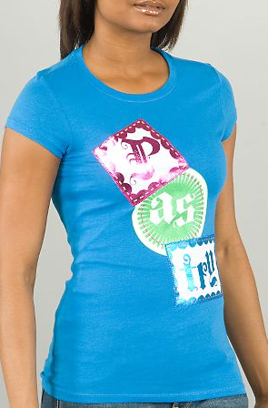 Logo Tee in blue