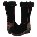 Black Marshmallow Wedge Boots by Pastry