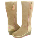 Pastry Marshmallow Wedge Boot in Caramel