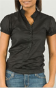 Woven Pastry Blouse in Black