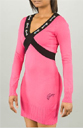 Pastry Disco Sweater Dress in Pink