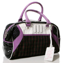 Pastry Plaid Print Satchel