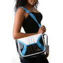 Pastry Blue Cherry Plaid Mini Messenger