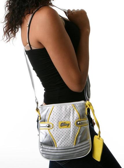 The Glam Diamond Cross-Body Lemon Handbag
