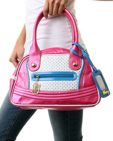 The Glam Diamond Satchel in Pink