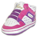 Toddler size: Pastry Plum Glam Pie Crib Shoes