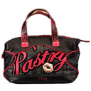 Pastry Kiss Applique Satchel – Black