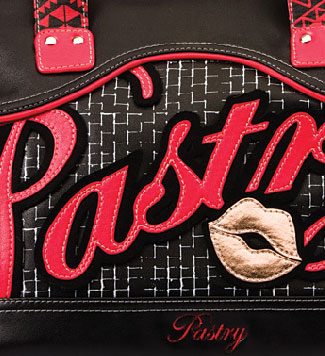 pastry applique purse