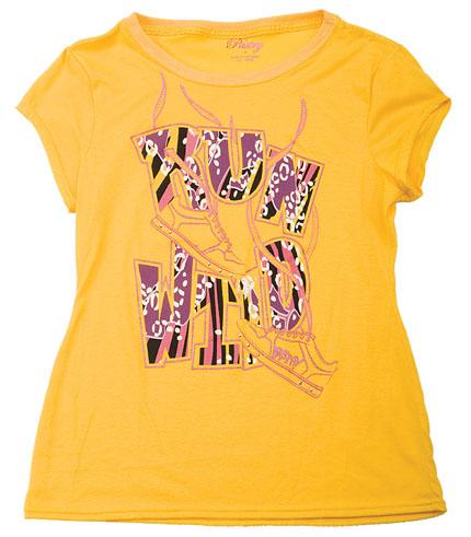 Womens Pastry Run Wild Tee - Yellow