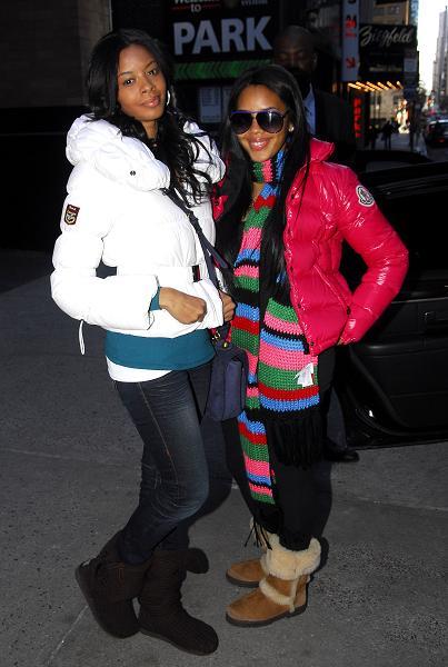Vanessa and Angela Simmons in Manhattan