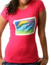 Pastry Clothing: Postcard Wishes Tee in Pink