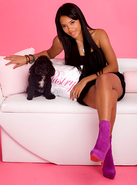 angela-simmons-with-dog