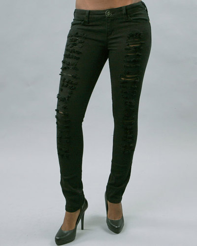 Baby Phat Cat Ripped Skinny Jeans
