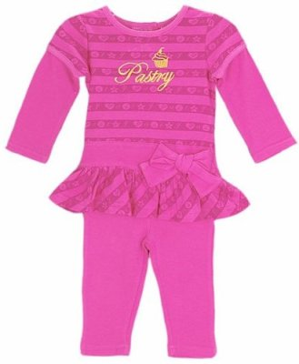 Pastry Slider Tunic & Leggings 2-Piece Outfit in Pink