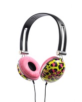 Animal Print Headphones - Green