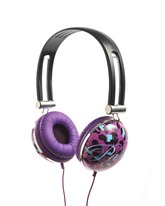 Animal Print Headphones - Purple